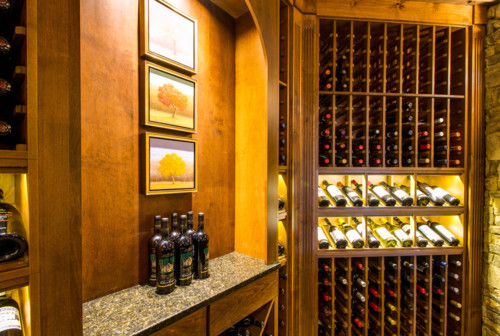 Custom Traditional Kessick wine room sold and installed by Germano Wine Cellars & Custom Traditional Kessick wine room sold and installed by Germano ...
