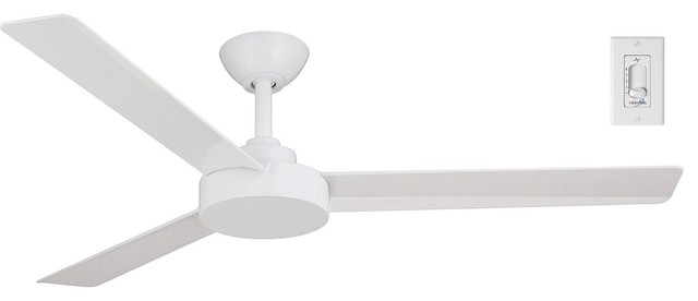 Minka Aire Roto 52 Ceiling Fan With Remote Control Flat White