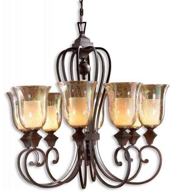 Uttermost 21049 elba 8 light candle chandelier traditional uttermost 21049 elba 8 light candle chandelier traditional chandeliers aloadofball Images