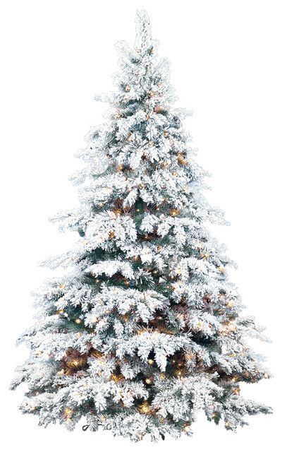 Flocked Silvertip Tree - Traditional - Christmas Trees - by Barcana
