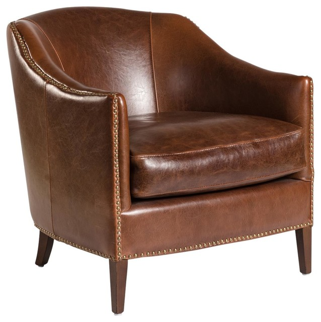 Fantastic New Madison Leather Accent Chair Club Bralicious Painted Fabric Chair Ideas Braliciousco