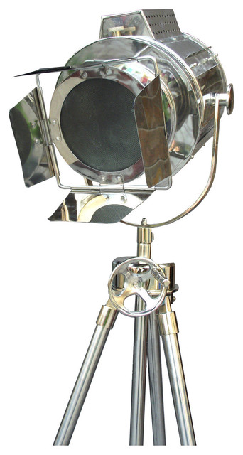 Hollywood Directors Handmade Lamp, Brilliant Chrome Finish.