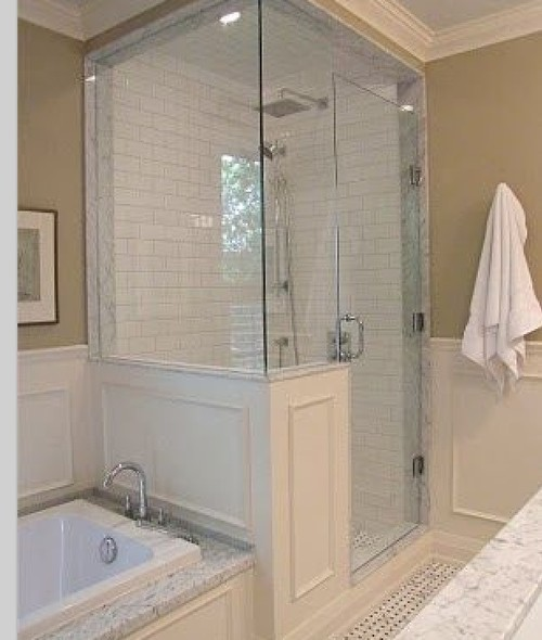 Small Bathroom Tub And Shower Combo: Separate Bath & Shower Increase Resale Value?