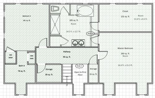 Need help with master bathroom closet design for L shaped master bathroom layout