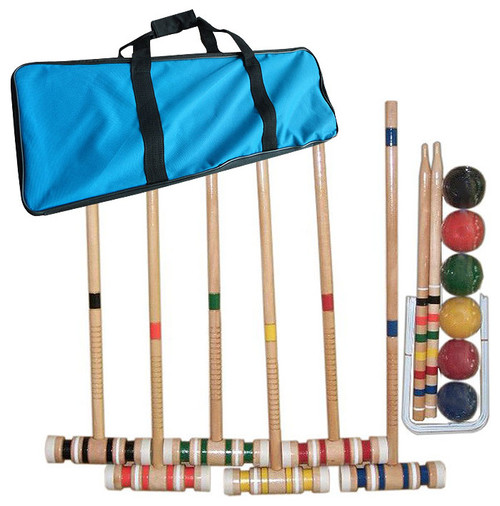 Complete Croquet Set with Carrying Case by Trademark Games