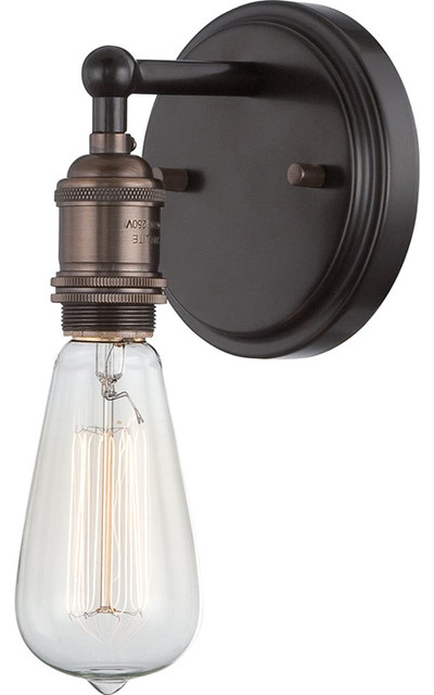 Antique Incandescent DownLight Sconce with a Transitional - Industrial - Wall Sconces - by ...