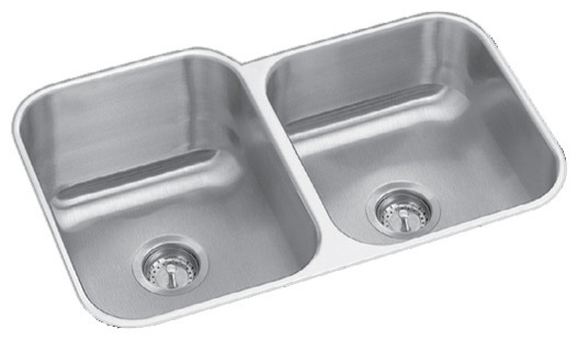 Conqueror 31 3 4 X 20 1 2 Basin Under Counter Stainless Steel Left Hand Sink Contemporary Kitchen Sinks By Er Faucets