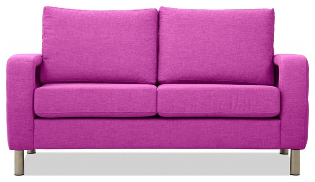 2 sitzer sofa omnia 222 i pink minimalistisch sofas. Black Bedroom Furniture Sets. Home Design Ideas