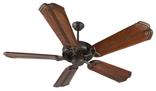 "Craftmade American Tradition 56"" Aged Bronze Textured Ceiling Fan With 5 Blades."