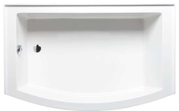 Mezzaluna 6032 Left Hand, Tub Only, White.
