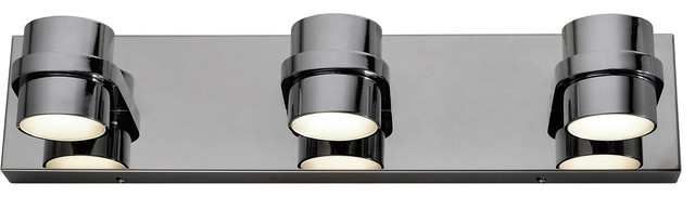 Twocan 6-Light Bathroom Vanity Lights, Polished Chrome.