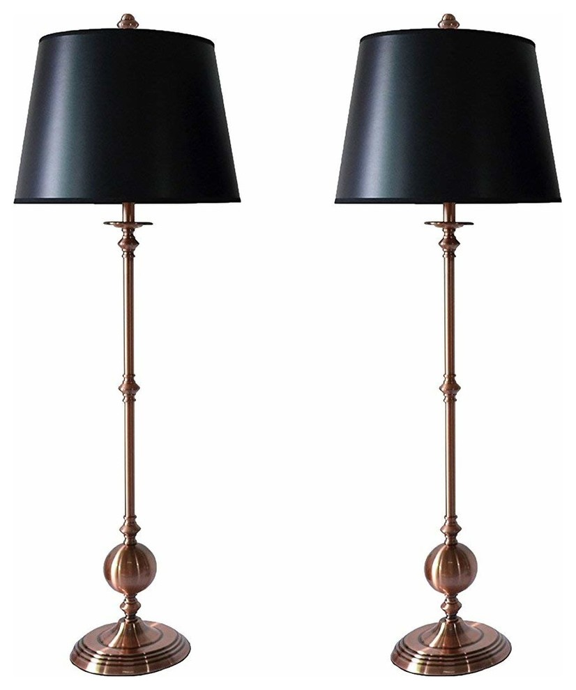 Bastille Buffet Lamps With Shades Set