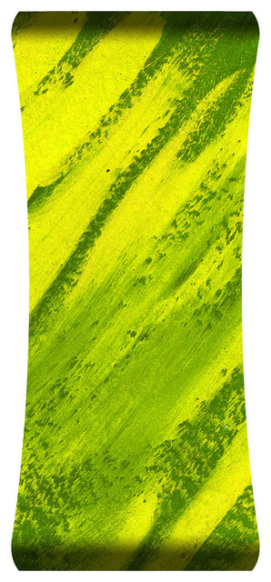 Twist Of Lime Hd Curved Steel Wall Art.