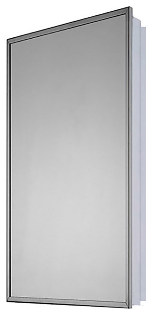 "Medicine Cabinet, 18""x36"", Bright Annealed Stainless Steel Frame"