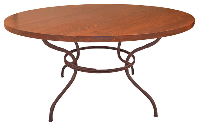 Woodland Dining Table With 60 Round Copper Top Dining Tables By The Iron Shoppe
