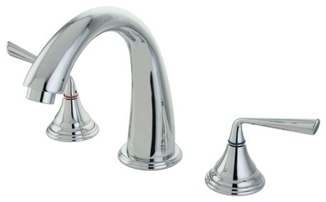 Silver Sage 2 Handle Roman Tub Filler Transitional Bathtub Faucets By Kingston Brass