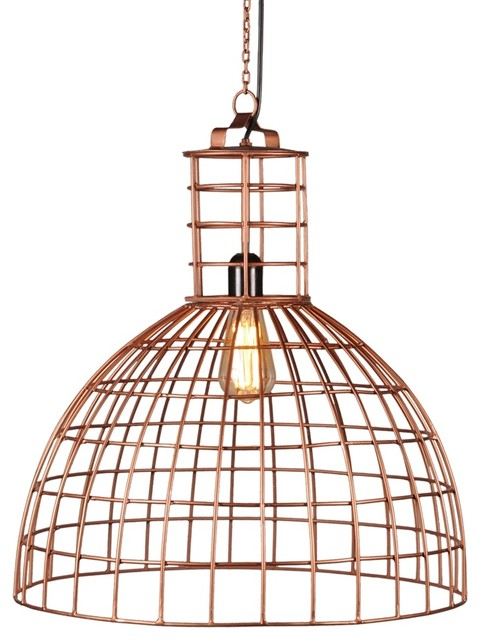 Foreign Affairs Home Decor Llum Copper Hanging Lamp