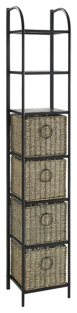 Windsor Bookcase With Baskets.