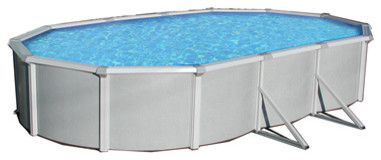 Blue Wave Samoan Oval 52 Inch Above Ground Pool - 15 Ft X 30 Ft.