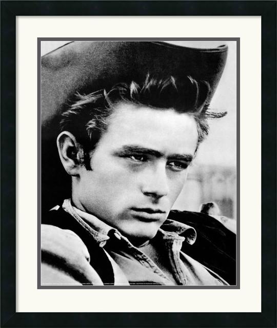 James dean cowboy framed print