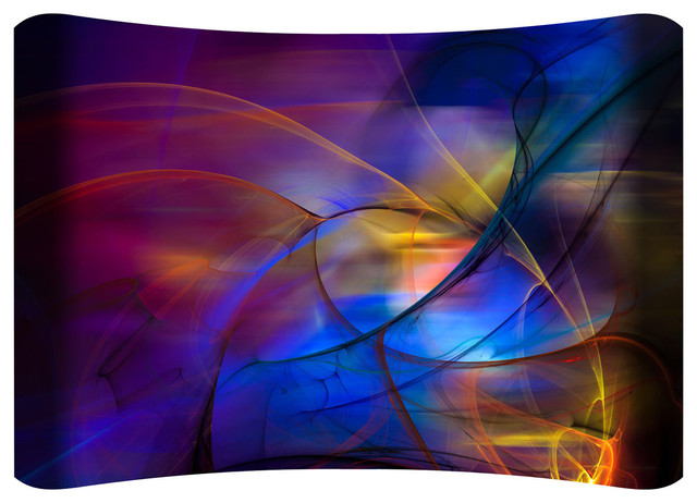 Bejeweled Hd Curved Steel Wall Art