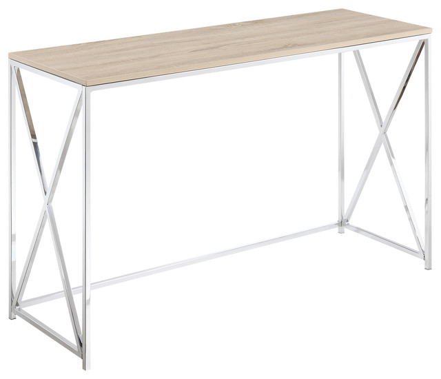 Belaire Console Table, Weathered White And Chrome Contemporary Console  Tables