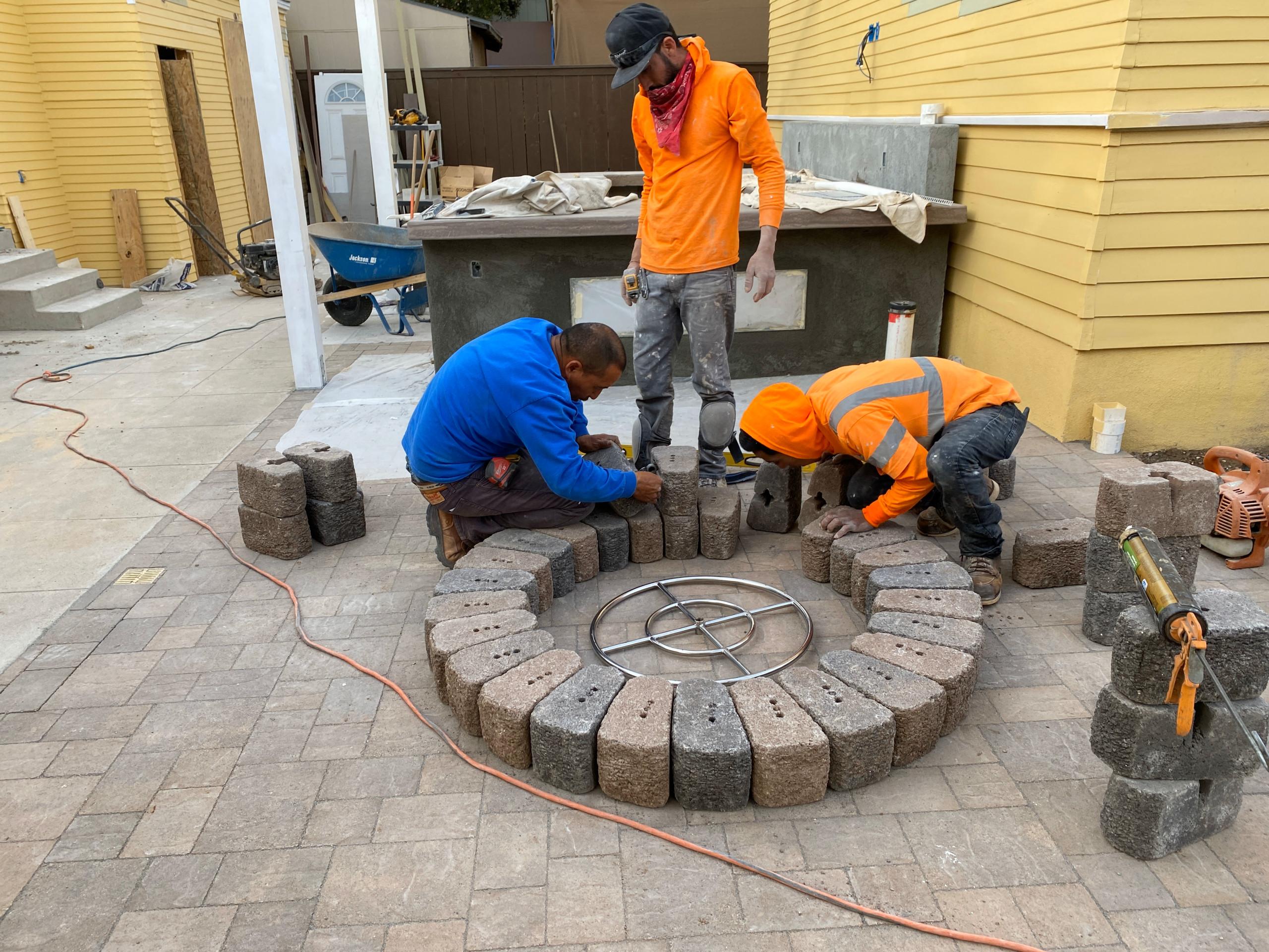 Installing a Circular Firepit