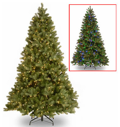 7 1/2 Ft. Feel Real Douglas Fir Christmas Tree w/ 750 Dual LED ...