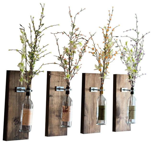 Wine Bottle Wall Vase Industrial Vases By Smokestack