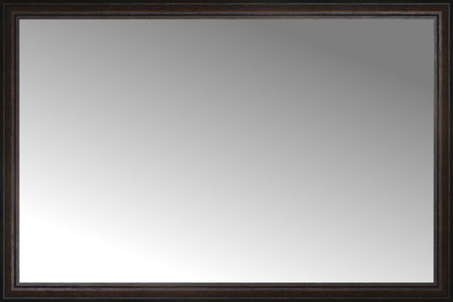 60 X40 Custom Framed Mirror Distressed Brown