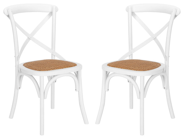 Poly and Bark Cafton Crossback Chair, Set of 2, White