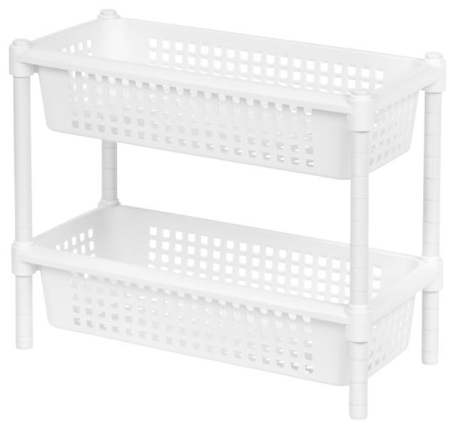 Small 2-Tier Multi-Purpose Rack - Contemporary - Pantry And Cabinet Organizers - by IRIS USA, Inc.