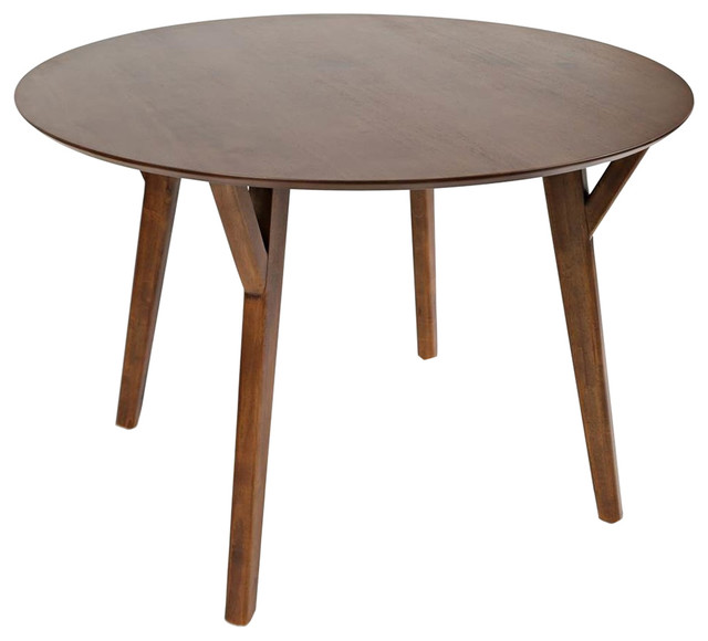 Midcentury And Contemporary Round Dining Table.