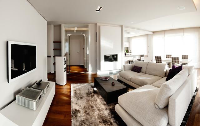 Neubau Eigentumswohnung Modern Wohnzimmer