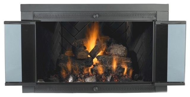 4033 Glassscreen Smoked Glass Traditional Fireplace Screens By Mr Flame Inc