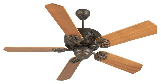 """Craftmade Cordova 52"""" Aged Bronze Textured Ceiling Fan With 5 Blades."""
