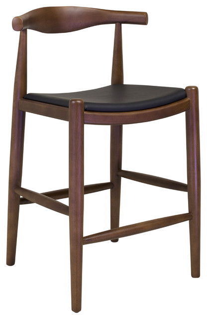 Midcentury Modern Elbow Counter Stool
