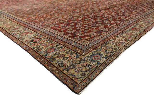 Antique Persian Farahan Palace Rug