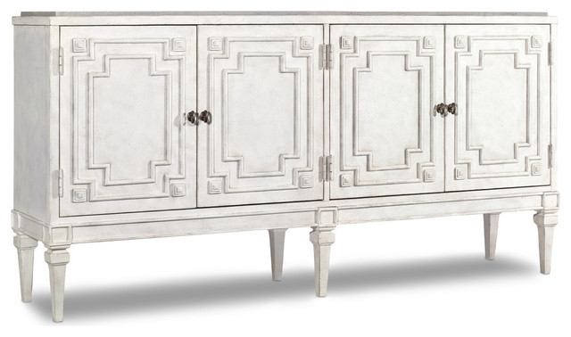 Four Door Credenza Traditional Accent Chests And
