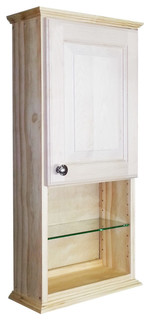 """Asheville Series On-The-Wall Cabinet, 31.5""""X15.25""""X3.25"""", 11.25"""" Open Shelf"""