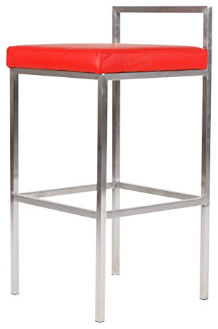 Fantastic Sgabello Cube Leggero Bar Stool Chair With Low Back Red Italian Leather Camellatalisay Diy Chair Ideas Camellatalisaycom