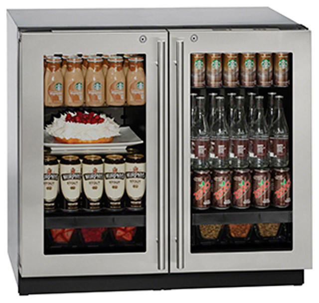 U-Line U-3036rrgls-13, 36 3000 Series Glass Door Refrigerator.