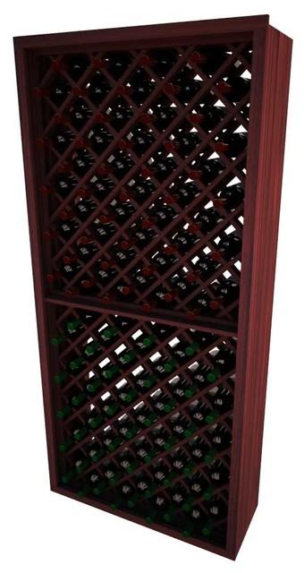 Dimona Wine Rack, Pine And Mahogany.