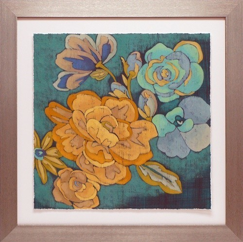 """trousseau Chintz I"" Framed Floral Art Print, 28""x28""."
