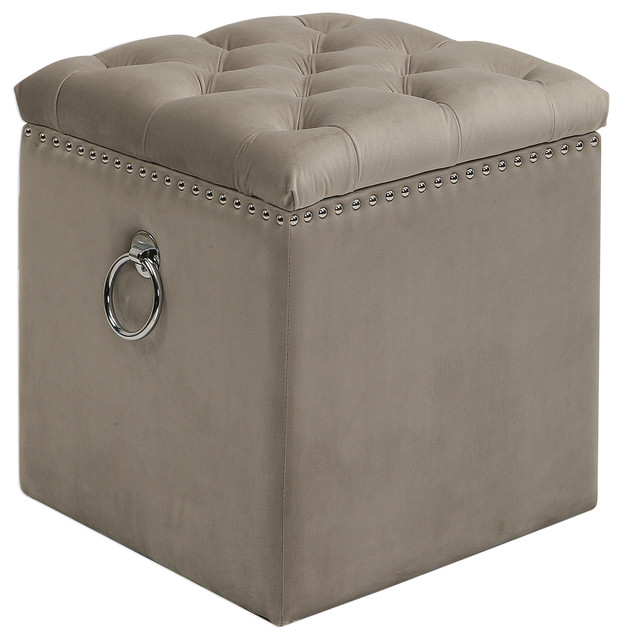 Incredible Uttermost Talullah Tufted Storage Ottoman Unemploymentrelief Wooden Chair Designs For Living Room Unemploymentrelieforg