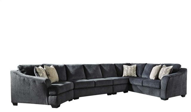 Ashley Eltmann Raf Sofa With Corner Wedge In Slate 4130349.