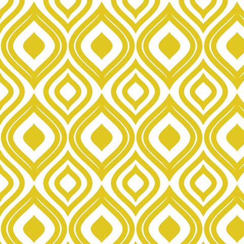 Ikat in Gold Shelf Paper Drawer Liner, 36x24, Laminated Vinyl