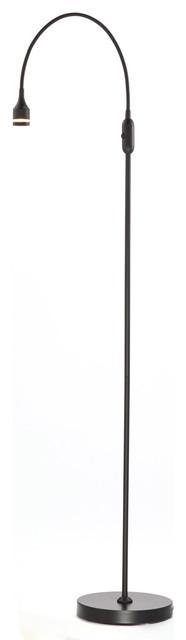 Prospect 1-Light Floor Lamps, Black.