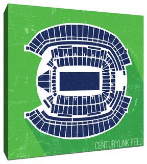 Centurylink Field Football Seating Map 16 X16 Canvas
