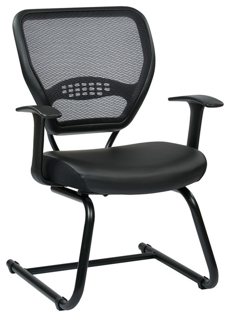 Space Seating Professional Air Grid Visitors Chair, 57 Series.